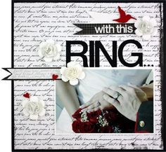 Think this might be the one..with wedding song printed on the front w/ pic of couple-  $ wedding colors , black w/accent of white and colbalt blue..hydrangea & cala lily flowers.. now need to gather supplies and assemble   . . . . . . .Detailed Driections:  http://projectcenter.creativememories.com/traditional/2011/06/traditional-tuesday-project-idea-june-14-2011-1.html    #wedding #album  #flower #craft #diy
