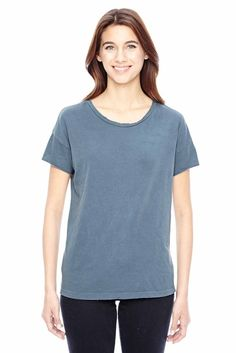 Alternative Womens Rocker Garment Dyed Cotton Distressed T-Shirt