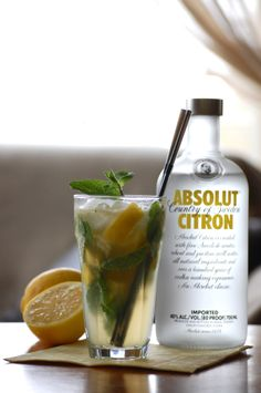 mojito with absolute vodka, absolut citron