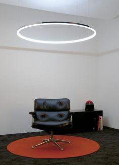 The combination of the circular archetype, the simple expression of infinity and the luminous power of light, was the inspiration for the Circolo. Circular aluminium profile, opal acrylic glass ring on the inside. LED. By Sattler. http://amzn.to/2t2rfh9