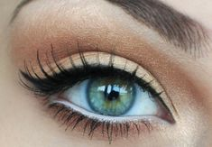 natural eye makeup with a winged liner <3