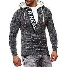 a5f5755cdb3283 LEIF NELSON Herren Strickjacke Pullover Hoodie Jacke Sweatjacke Sweatshirt  Sweater Pulli Winterjacke Freizeitjacke LN4195 (Small