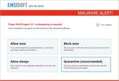 Emsisoft Anti-Malware alert fileguard