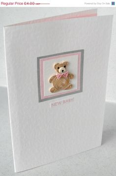 Quilling baby congratulations card