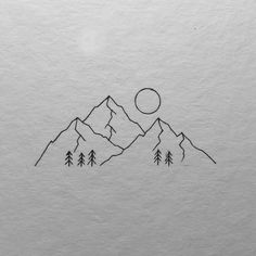 Another minimal mountain range. I would love to do one of the animals in line fo., Another minimal mountain range. I would love to do one of the animals in line fo. Minimal Drawings, Art Drawings Sketches, Easy Drawings, The Animals, Mountain Drawing Simple, Mountain Sketch, Mountain Art, Drawing Sites, Drawing Drawing