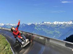 Summer Vacation in Switzerland: Swiss Family Vacation summer toboggan Places Around The World, Oh The Places You'll Go, Travel Around The World, Places To Travel, Travel Destinations, Places To Visit, Dream Vacations, Vacation Spots, Swiss Alps
