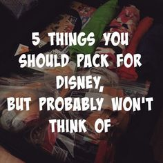 5 Things You Should Pack for Disney, But Probably Won't Think Of There is a lot of packing involved in traveling, and common sense should guide. I've compiled 5 things you should pack for Disney but probably won't think of. Packing List For Disney, Disney World Vacation Planning, Disneyland Vacation, Disney World Parks, Walt Disney World Vacations, Disney Planning, Family Vacations, Disney Worlds, Disney Honeymoon