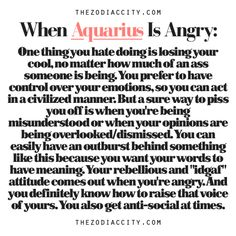 Just Another Random Zodiac Book - When Aquarius Is Angry - Page 1 ...
