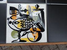 vintage tiles coffee table 1950s abstract poole robert stewart heals carter