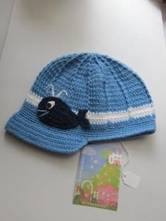 Crochet Baby Boy Hat...Baby Whale Hat by MILAVIKIDS on Etsy, $27.60