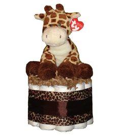 Little Giraffe Classy Baby Diaper Cake-diaper cake baby shower gift giraffe stuffed animal plus Baby Shower Cakes, Baby Shower Gifts, Little Giraffe, Giraffe Baby, Giraffe Stuffed Animal, Cake Baby, Everything Baby, Baby Fever, Future Baby