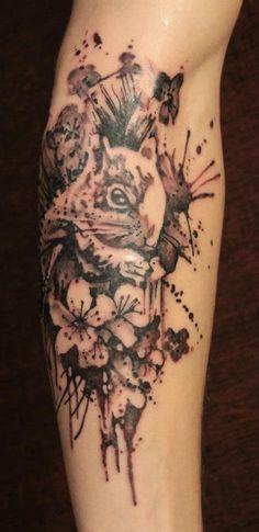 Gene Coffey tattoo squirrel
