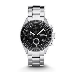 Shop for Fossil Men's Decker Chronograph Black Dial Stainless Steel Bracelet Watch. Get free delivery On EVERYTHING* Overstock - Your Online Watches Store! Fossil Watches For Men, Best Watches For Men, Luxury Watches For Men, Cool Watches, Wow Deals, Herren Chronograph, Best Watch Brands, Online Watch Store, My Guy