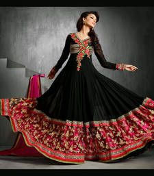 Buy Black beauty heavy worked designer party wear attire wedding-salwar-kameez online