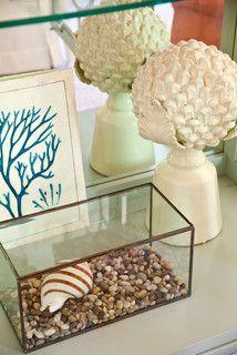 Terrarium with shells and pebbles  // Tobi Fairley Interior Design