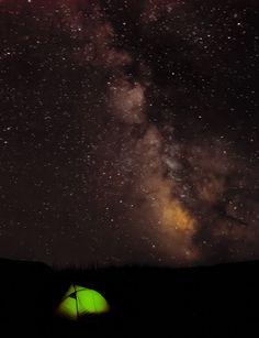 Milky Way galactic center  Missouri River, Montana