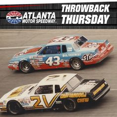 One of racing's greatest rivalries, Petty vs. Pearson, extended all the way into the Nascar Race Cars, Old Race Cars, Richard Petty, King Richard, Motor Speedway, 1980s, Classic Cars, Atlanta, Sport