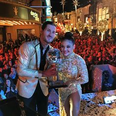 DWTS season 23 winner Valentin Chmerkovskiy & Laurie Hernandez