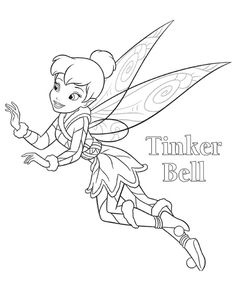 Tinkerbell Coloring Pages Free To Print Are Very Popular With Girls Her Yellow Hair And