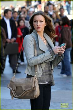 Gossip Girl films new scenes for the sixth and final season - Katie Cassidy
