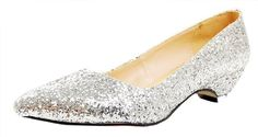 Honeystore Women's Dancing Sequins Glitter Fabric Flats Sliver 8.5 B(M) US - Brought to you by Avarsha.com