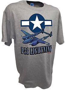 P-38 Star Lightning Ww2 Fighter Bomber B-17 P-51 P47 Luftwaffe Airforce Army Tee