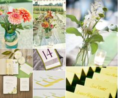 Ideas to use Mason Jars for your Spring or Summer Wedding.
