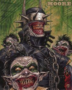 The Batman Who Laughs by Tony Moore Joker Batman, Comic Del Joker, Batman Metal, Batman Dark, Joker Art, Batman The Dark Knight, Batman Robin, Gotham Batman, Comic Book Characters