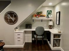 47 ideas rustic basement stairs decor for 2019 Office Under Stairs, Basement Office, Basement Bedrooms, Basement Bathroom, Under Basement Stairs, Basement Furniture, Basement Ceilings, Under The Stairs, Bedroom Loft