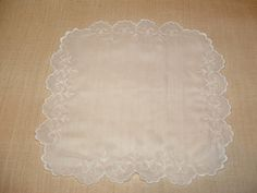Delicate Embroidered Handkerchief by cajunstitchery on Etsy, $30.00