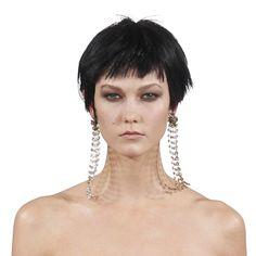 Pendant earrings at Oscar de la Renta. Fall/Winter 2014-2015 Jewelry Trends