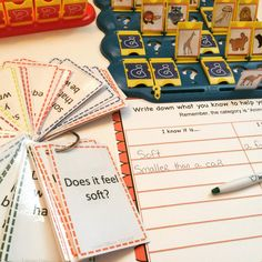 Targeting vocabulary, categories, asking WH questions, and using descriptive language, are all common goals of speech therapists. Categories include: Items in a House, Food and Drinks, School Items, Animals, Fun Items, Vehicles, and Holiday Items!