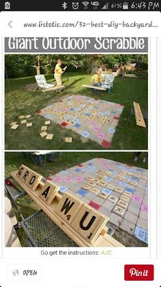 Backyard Scrabble....Part of my backyard games!