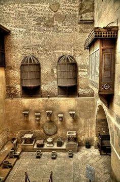 Bayt Al-Cretleyah (Gayer-Anderson Museo) Old Egypt, Ancient Egypt, Islamic World, Islamic Art, Islamic Architecture, Art And Architecture, Modern Egypt, Visit Egypt, Egyptian Art