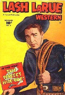 "Lash LaRue, western film actor, (Cheyenne) ""King of the Bullwhip"" 1921-96"