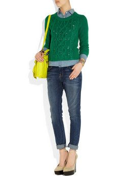 Marc by Marc Jacobs | Uma cable-knit merino wool sweater | NET-A-PORTER.COM