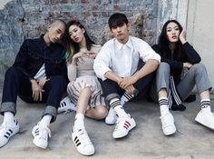 koreanmodel: Park Hyeong Seop, Sora Choi, Irene Kim and Park Sung Jin for Adidas Original Superstar Spring 2015