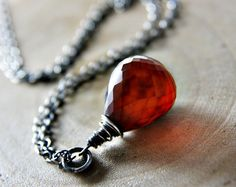 Silver wire wrapped amber Chalcedony
