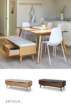 Culla Oak Bench : Seating and storage: small spaces need multifunctional furniture. The Culla bench manages to seat your friends and hide the placemats when dinner is done. Furniture Plans, Furniture Decor, Furniture Design, Wooden Furniture, Antique Furniture, Furniture Websites, Furniture Quotes, Furniture Buyers, Furniture Cleaning
