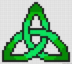 Celtic knot design perler bead pattern