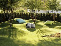Fresh design ideas for your garden - Entwurf - Landscape design - Shair Landscape Architecture Design, Garden Landscape Design, Urban Landscape, Backyard Landscaping, Landscaping Design, Garden Inspiration, Exterior, Park, Design Ideas