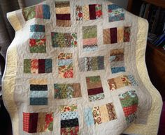 Modern Lap Quilt/Table Topper/Toddler Quilt/ by ShirleyCQuilts