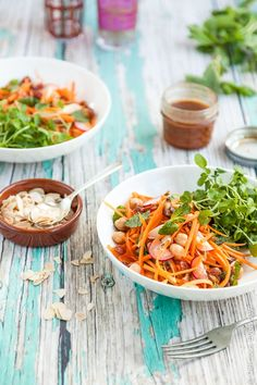 This Moroccan carrot and chickpea salad recipe is a hearty meal in a bowl and makes for a great packed lunch. Gluten-free and vegetarian (with a vegan option) it is so easy to throw together and packs a punch flavourwise! You'll be making it again and again!
