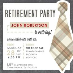 dad's retirement party???