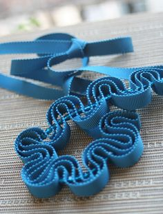 Ribbon necklace in blue HK$200 available on http://tiwwa.hk/jewelry/necklace/1178-copy1.html #blue #ribbon #necklace