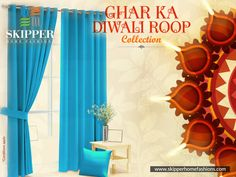 You don't want to ornate your decor with those old dull coloured curtains, do you! Its diwali and you have guest coming home. Set aside all your old set of curtains and bring home these #GharKaDiwaliRoop collection home. . . . .Shop Now @https://skipperhomefashions.com/diwali-special #GharKaNayaRoop #GharKaDiwaliRoop #DiwaliCollections #DiwaliSpecial #HomeDecorStuff #DiwaliTheme #BuyNow #SkipperHomeFashions