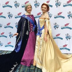 Our Anastasia and dowager empress gowns! We did a mash up of the movie gowns and actual historical Russian court gowns. The costumes took… Anastasia Cosplay, Court Dresses, Sari, Gowns, Costumes, Movies, Outfits, Collaboration, Closet
