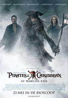 Pirates of the Caribbean: At World's End (2007) . Μετά την Κατάρα του Μαύρου Μαργαριταριού και το Σεντούκι του Νεκρού, οι Πειρατές της Καραϊβικής σαλπάρουν... για την οριστική τους περιπέτεια! Ο γοητευτικός τυχοδιώκτης των θαλασσών Τζακ Σπάροου ξαναχτυπά πιο έτοιμος από ποτέ για νέα κατορθώματα αλλά και νέες... γκάφες, στην πιο θεαματική τριλογία που έγινε ποτέ για τον θρυλικό κόσμο των κουρσάρων!