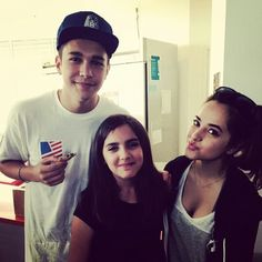 Austin and Becky G at Summers birthday party