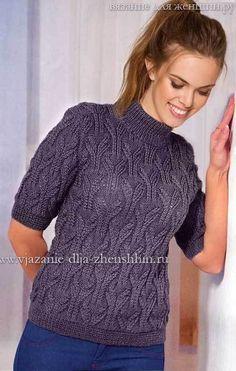 Вязание спицами для женщин модные модели джемпер 802